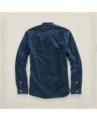 RRL - Blue Bandedcollar Railman Shirt for Men - Lyst