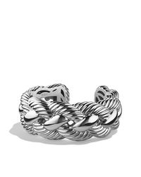 David Yurman - Metallic Large Woven Cable Cuff - Lyst