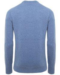 Jules B - Blue Crew Neck Lambswool Sweater for Men - Lyst