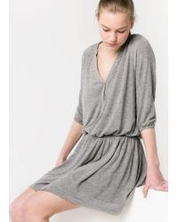 Mango | Gray Loosefit Jersey Dress | Lyst