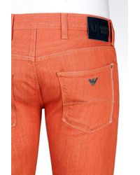 Armani Jeans | Red Extra Slim Rinse Wash Jeans for Men | Lyst