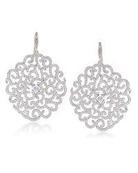 Carolee - Metallic Floral Lace Large Swirl Drop Earrings - Lyst