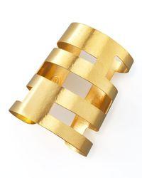Herve Van Der Straeten | Metallic Geometric Cutout Cuff | Lyst