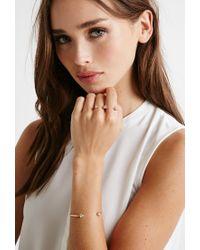 Forever 21 - Metallic Clustered Rhinestone Jewelry Set - Lyst