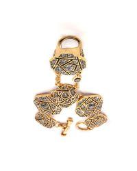 Oscar de la Renta | Metallic Rose Pave Hand Piece Black Diamond | Lyst