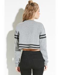 Forever 21 | Gray Civil Cropped Pullover | Lyst