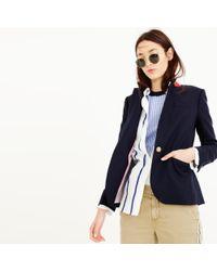 J.Crew - Blue Tall Campbell Blazer In Wool Flannel - Lyst