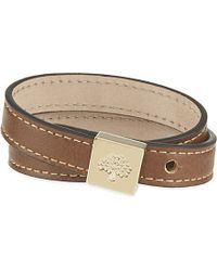 Mulberry | Brown Tessie Leather Bracelet | Lyst