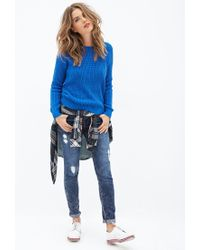 Forever 21 | Blue Crew Neck Sweater | Lyst