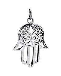 Aeravida - Metallic Swirl Hamsa Hand Passion Sterling Silver Pendant - Lyst