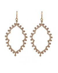 Asha | Metallic Sofia Pave Earrings | Lyst