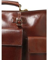 The Bridge - Brown Hand-painted Leather Briefcase for Men - Lyst
