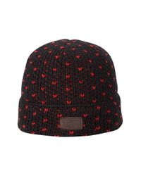 Original Penguin - Black Bird's Eye Knit Watch Cap for Men - Lyst