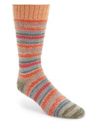 Mr Gray | Orange Textile Stripe Socks for Men | Lyst