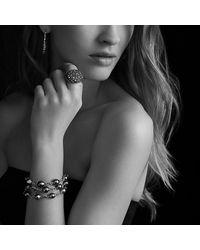 David Yurman - Metallic Three-row Bracelet With Pearls And Diamonds - Lyst
