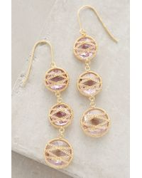 Anthropologie - Metallic Asteria Drops - Lyst
