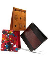 Alexander McQueen - Black Two-tone Leather Bi-fold Wallet for Men - Lyst