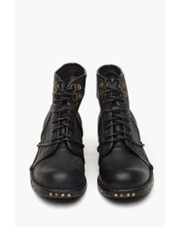 Nasty Gal | Black Jeffrey Campbell Rosie Cutout Combat Boot | Lyst