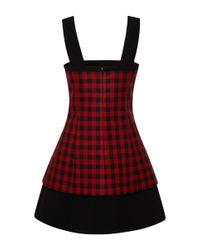 Fausto Puglisi - Black Plaid Cotton Dress - Lyst