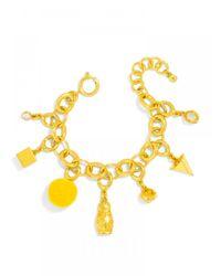 BaubleBar | Metallic Halo Charm Bracelet | Lyst