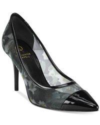 Adrianna Papell | Black Maya Evening Embellished Platform Sandals | Lyst