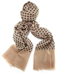 Jules B - Natural Polka Dot Wool Scarf for Men - Lyst