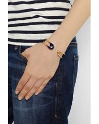 Iam By Ileana Makri - Blue Enameled Gold-plated Safety Pin Cuff - Lyst