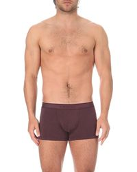 Zimmerli | Purple Melange Jersey Trunks for Men | Lyst