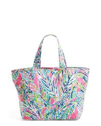 Lilly Pulitzer | Multicolor Print Canvas Beach Tote | Lyst