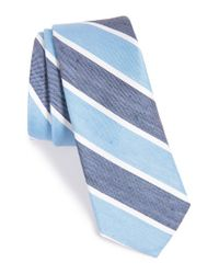 W.r.k. | Blue Stripe Silk Tie for Men | Lyst
