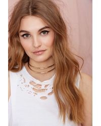 Nasty Gal - Metallic Live Wire Collar Necklace - Lyst