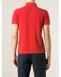 Stone Island - Black Logo Patch Polo Shirt for Men - Lyst