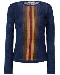Marco De Vincenzo - Blue Cable Knit Sweater - Lyst