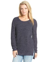BP Blue Textured Knit Pullover
