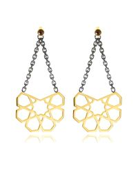 Ralph Masri | Metallic Arabesque Earrings | Lyst