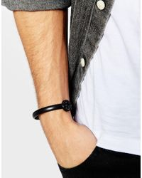 ASOS - Bangle With Skull Ends In Black for Men - Lyst