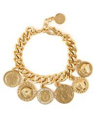 Versace | Metallic Coin Charms Medusa Bracelet | Lyst