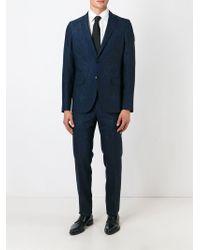 Etro - Blue Paisley Print Trousers for Men - Lyst