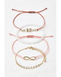 Forever 21 | Pink Infinity Charm Bracelet Set | Lyst