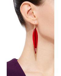 Mark Davis | Multicolor Burgundy Bakelite Earrings With Diamonds | Lyst