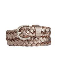 Fossil - Metallic Woven Jean Belt - Lyst