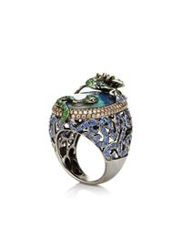 Wendy Yue - Blue Diamond and Tsavorite Ring - Lyst