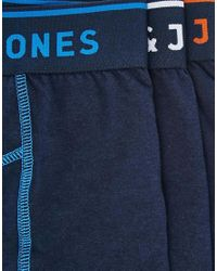 Jack & Jones - Blue 3 Pack Trunks for Men - Lyst