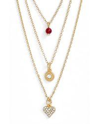 Sequin | Metallic 'color Karma' Triple Strand Pendant Necklace | Lyst