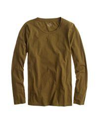 J.Crew - Green Tissue Long-sleeve T-shirt - Lyst