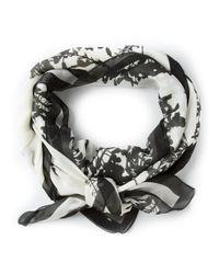 Ann Demeulemeester - Gray Floral Print Scarf - Lyst