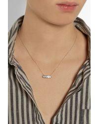 Monica Vinader - Metallic Baja Mini Rose Gold-Plated Diamond Necklace - Lyst