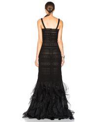 Oscar de la Renta   Black Lace Gown   Lyst