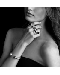 David Yurman - Metallic Noblesse Ring with Black Onyx and Gold - Lyst