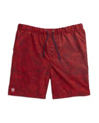 Victorinox | Red Palm Printed Swim Trunks for Men | Lyst